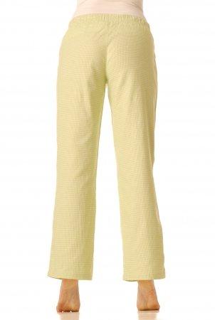 Flanelové pyžamové kalhoty - Zelená kostička